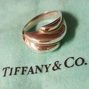 Tiffany & Co Sterling Silver 18K Yellow Gold Twist